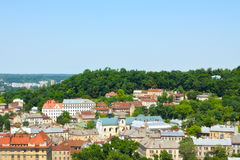 Lviv Aerial View Stock Photos