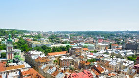 Lviv Aerial View Royalty Free Stock Photo