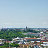 Lviv Aerial View Royalty Free Stock Images