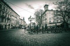 Lviv bij nacht Royalty-vrije Stock Fotografie