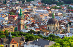 Lviv City in the evening Stock Images