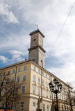 Lviv City Hall. City Hall on the Rynok Aquare in Lviv (Lemberg Royalty Free Stock Photos