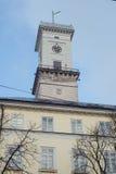 Lviv City Hall  tower Stock Photography
