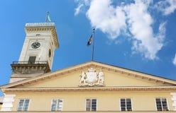Lviv City Hall tower, Ukraine Stock Image