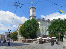 Lviv City Hall, Ukraine Stock Photography