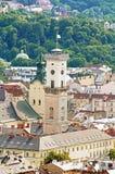 Lviv City Hall, Ukraine royalty free stock photos