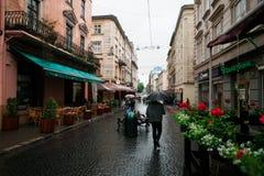Lviv city lanscape after rain Stock Images