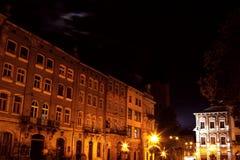 Lviv city by night Royalty Free Stock Photo