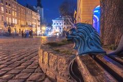 Lviv. City night landscape. Ukraine Royalty Free Stock Photos