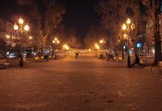 Lviv city night landscape. Ukraine Royalty Free Stock Photography