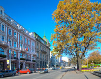 Lviv city scene Royalty Free Stock Photos