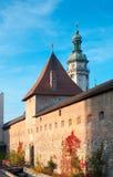 Lviv city scene. Historical building of Korolivsjkuj arsenal(1642-1644) in Lviv-city (Ukraine Stock Images