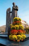 Lviv city scene. Poet Taras Shevchenko monument in Lviv City (Ukraine Stock Photography