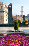 Lviv city scene Royalty Free Stock Image