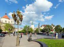 Lviv City scene (Ukraine). MAY 10, 2012 Royalty Free Stock Image