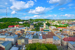 Lviv City skyline Royalty Free Stock Images