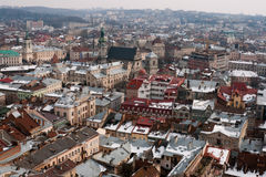 Lviv cityscape Royalty Free Stock Photo