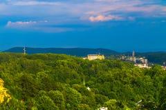 Lviv Cityscapesynvinkel 05 royaltyfria bilder
