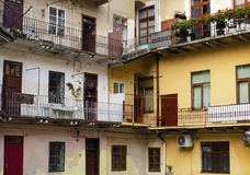 Lviv courtyard of the old city. Stock Image