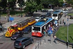 Lviv da altura de Foto de Stock Royalty Free