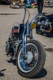 LVIV, DE OEKRAÏNE - APRIL, 2016: Oude manier uitstekende motorfiets Stock Foto's