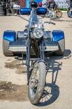 LVIV, DE OEKRAÏNE - APRIL, 2016: Oude manier uitstekende motorfiets Royalty-vrije Stock Foto's