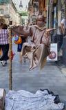 LVIV, DE OEKRAÏNE - JUNI 15: Vermaak voor de toerist in Lviv - Royalty-vrije Stock Afbeelding