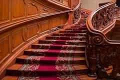 LVIV, de OEKRAÏNE - 16 November, 2015: Huis van Wetenschappers - een vroeger nationaal casino 16 november, 2015 Lviv, de Oekraïne Royalty-vrije Stock Afbeeldingen