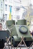 Lviv, de Oekraïne - November 2, 2018: 100ste verjaardag van West- Oekraïense Volksrepubliek ZUNR Oekraïense Sich-Riflemen stock foto's