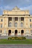 Lviv, de Oekraïne, 15 September, 2013 De bouw van de Nationale die Universiteit van Lviv na Ivan Franko wordt genoemd Het werd ge Royalty-vrije Stock Afbeeldingen