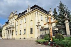 Lviv, de Oekraïne, 15 September, 2013 Het Metropolitaanse Paleis in de tempel complex van St George Kathedraal Stock Foto