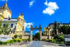 Lviv Heilige George Cathedral 02 stock foto's