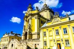 Lviv Heilige George Cathedral 04 royalty-vrije stock afbeelding