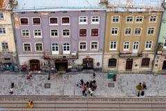Lviv am Herbst, Ukraine Lizenzfreie Stockfotos