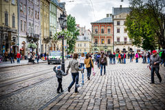 Lviv - the historic center of Ukraine Royalty Free Stock Photos