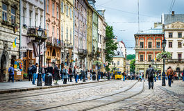 Lviv - the historic center of Ukraine Royalty Free Stock Images