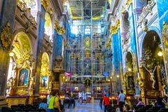 Lviv jezuity kościół 02 fotografia royalty free