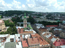 Lviv krajobraz, Ukraina Fotografia Royalty Free
