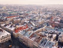 Lviv landscape. Lviv winter morning landscape Stock Image