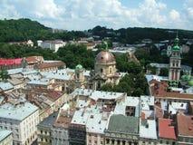 Lviv landskap, Ukraina Arkivbilder