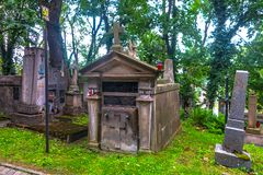 Lviv Lychakiv Cemetery 11. Lviv Famous Historic Lychakiv Łyczakowski Cemetery for Middle and Upper Classes with Ornamented Mausoleums royalty free stock photo