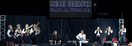 LVIV - MAY 22: Goran Bregovic Stock Photo