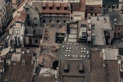 Lviv miasta panoramy budynki, stary miasteczko zdjęcie stock