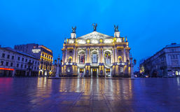 Lviv National Academic Theater of Opera and Ballet, Ukraine Royalty Free Stock Photo