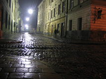 Lviv at night Stock Photos