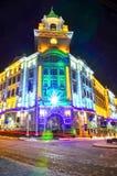 Lviv night city scene Stock Image