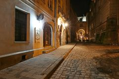Lviv at night Royalty Free Stock Photos