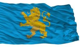 Lviv Oblast City Flag, Ukraine, Isolated On White Background vector illustration
