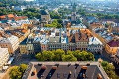 Lviv old city in Ukraine Stock Image
