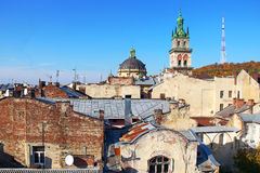 Lviv old town Royalty Free Stock Photos